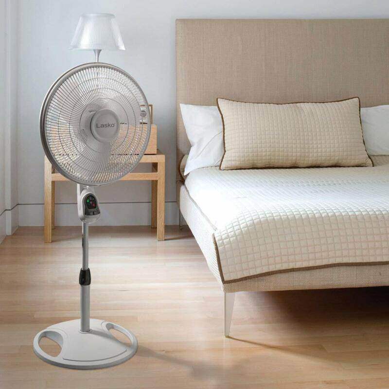 Pedestal Stand Fan With Remote Control RC Timer Heavy Duty F