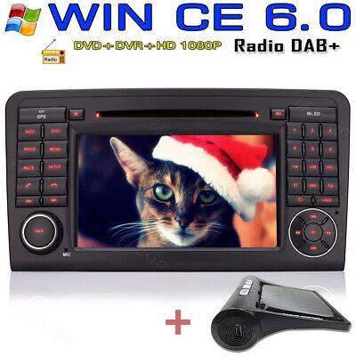 """TPMS+ 7"""" AUTORADIO GPS Karte DVD Bluetooth 2DIN Für BENZ ML GL W164 GL320 ML350"""