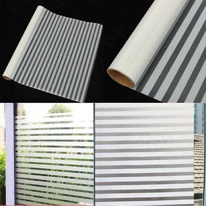 45x150cm mate film raye autocollant sticker fenetre anti for Film anti effraction fenetre