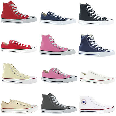 MENS WOMENS CONVERSE ALL STAR HI LOW TOPS CHUCK TAYLOR TRAINERS SALE ALL MUST GO