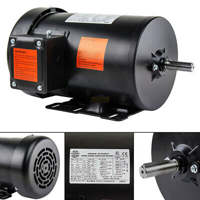 2 Hp Electric Motor 3 Phase Premium Efficiency 56h Frame 1800 Rpm Tefc 230460 V