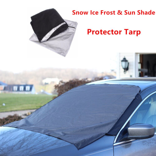Magnet Car Front Windscreen Cover Frost Snow Ice Shield Protector Sunshade Flap