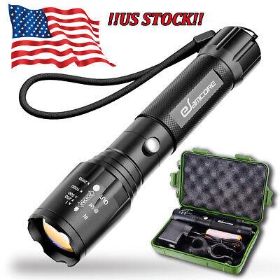 - Super Bright LED Tactical Flashlight Military Grade Torch Long-Range 1000 Lumens