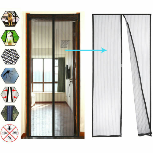 New Upgraded Heavy Duty magic Magnetic Screen Door mesh Curtain Mosquito Net Building & Hardware