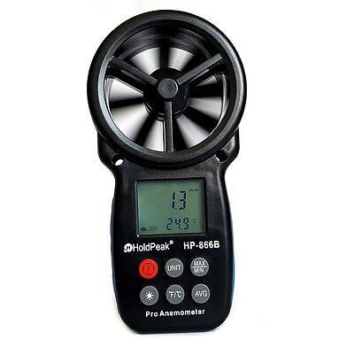 Digitales Flügelrad Anemometer HP-866B Windmessgerät Windmesser Thermometer