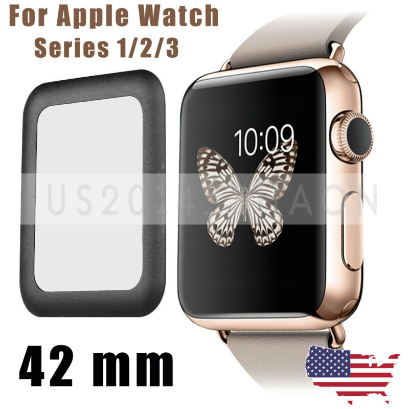 3D Full Cover Screen Protector 9H Tempered Glass For Apple Watch iWatch 42mm