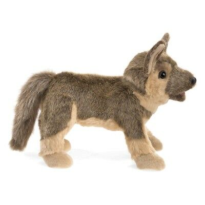 German Shepherd Hand Puppet with Movable Mouth & Forelegs by Folkmanis