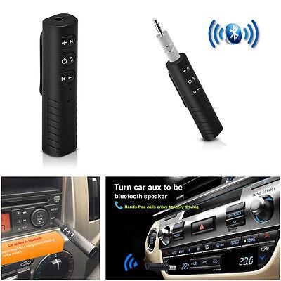 Wireless Handsfree Mini AUX Car Bluetooth Receiver Speaker Music Audio Adapter