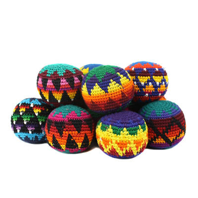 Guatemalan Hacky Sack, Foot Bag, Multi-Colored Set of 16.
