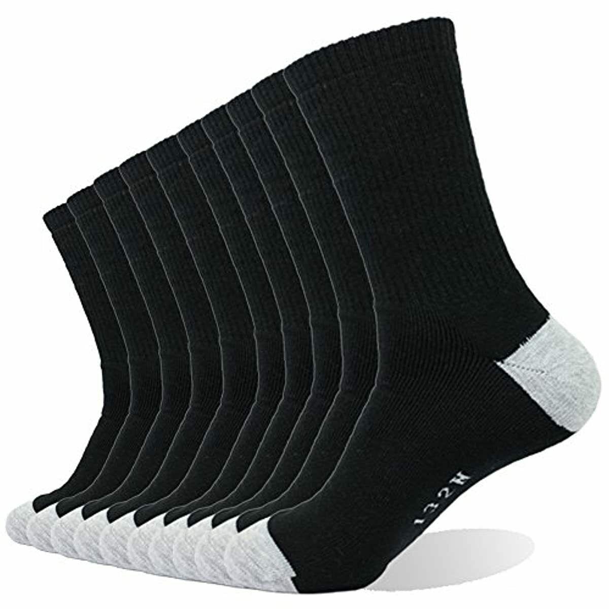 Enerwear 10P Pack Mens Cotton Moisture Wicking Extra Heavy C