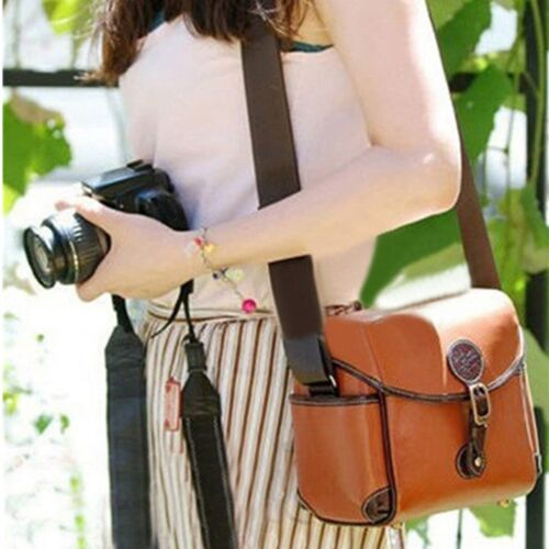 Vintage Leather Shoulder Camera Bag For Canon 550D Nikon DSL