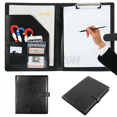 Executive A4 Men Business Conference Folder Wclipboard Pu Leather Document File