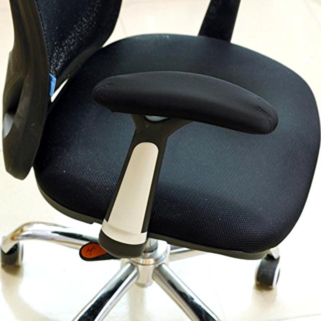 Bluecosto Soft Neoprene Office Chair Arm Covers Armrest Pads Black Largeset