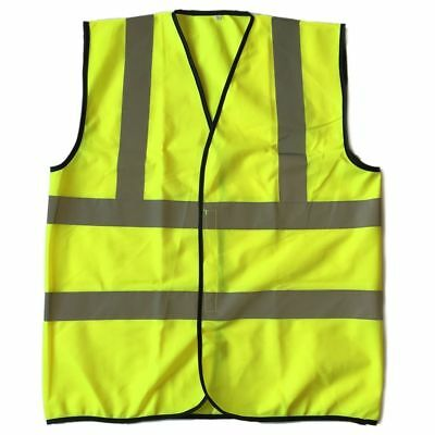 XL Size High Visibility Neon Yellow Safety Vest with Reflective Strips ANSI