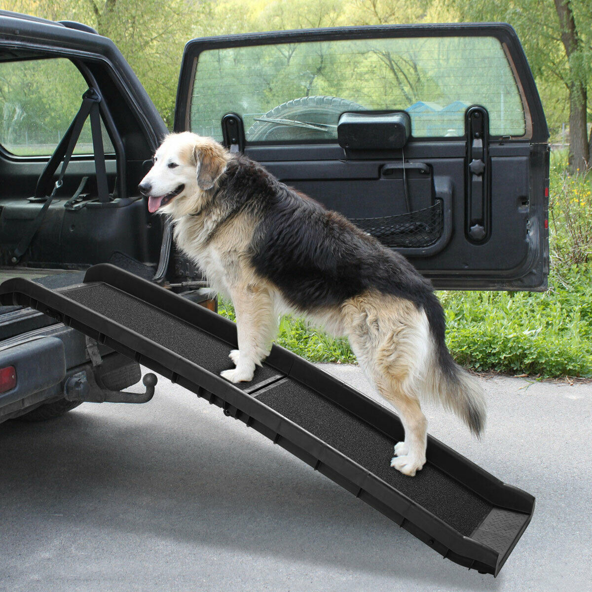 """62"""" Portable Dog Ramp Pet Stairs for Folding Trunk Back Seat"""
