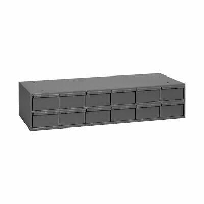 Metal 12 Bin Storage Drawer Cabinet Steel Parts Nuts Bolts Fasteners Screws Grey