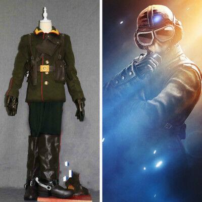 Rainbow Six:Siege jager elite Combat uniform Outfit cosplay costume Full (Elite Cosplay Kostüm)