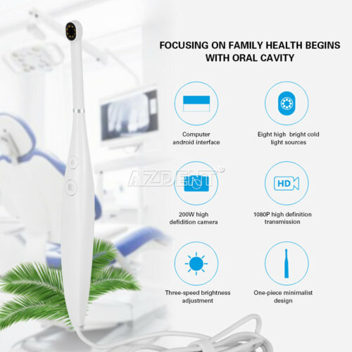 Dental USB Intraoral Camera Oral Endoscope 1080P HD 8 LED Light Real Time Video
