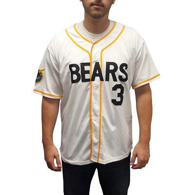 Kelly Leck # 3 Bären Baseball Trikot Bad News Kostüm Movie Uniform - 3 Bären Kostüm