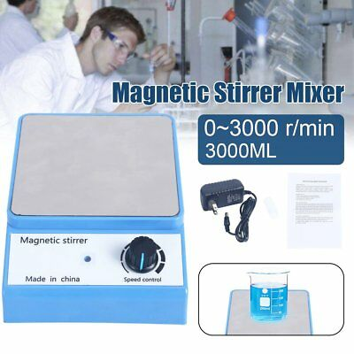 Magnetic Mixer Stirrer Stir Bar 3000 Rpm Stainless Steel Plate Mixer 3000ml New
