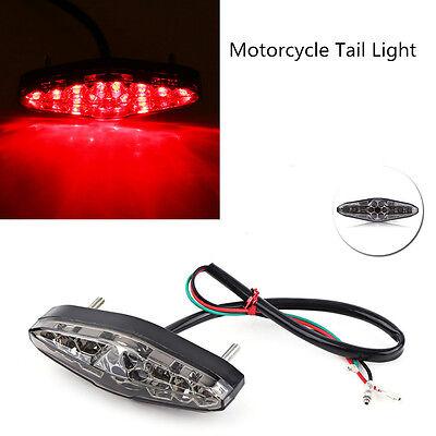 12V Motorcycle LED Smoke Running Rear Brake Stop Tail Light License Plate Light