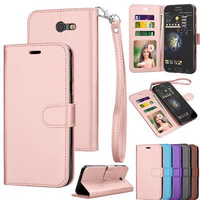 For Samsung Galaxy J7 V J7 Prime Sky Pro Perx Halo Leather Wallet Case (Quality Skin)