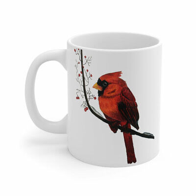 Christmas Mug Winter Mug Cardinal Bird Red Cardinal Bird Mug Bird Lover Gift