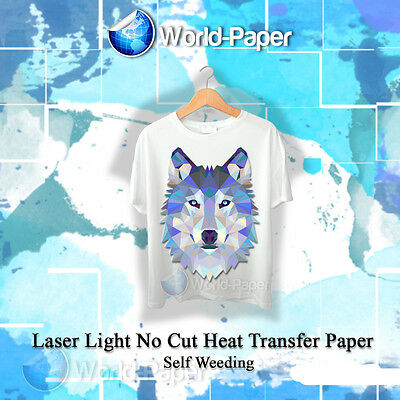 Laser Iron-on Trim Free Heat Transfer Paper Light Fabric 100 Sheets 8.5x11