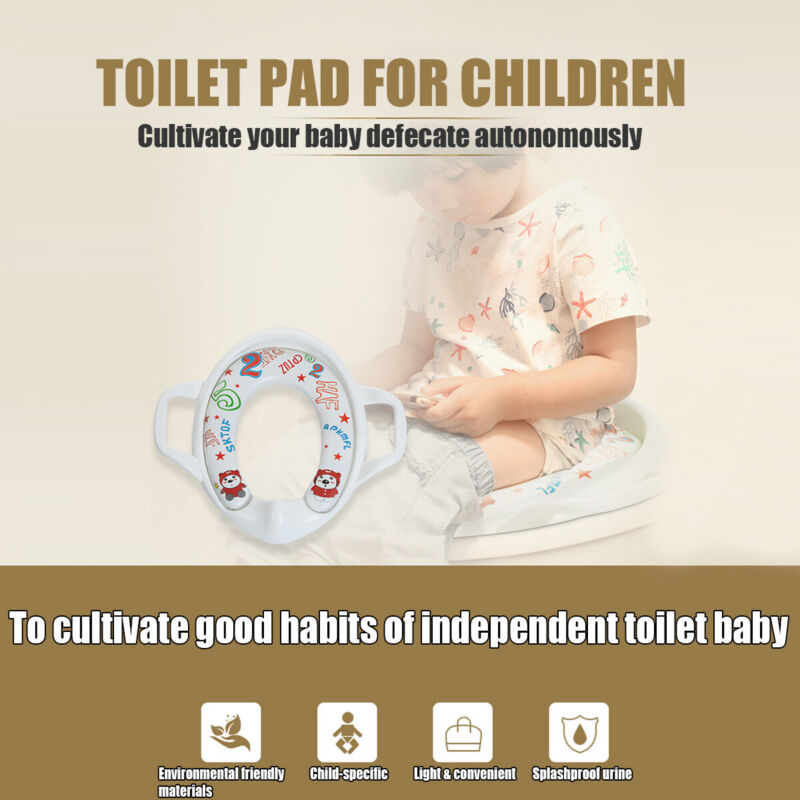 Potty Training Toilet Seat Pad Soft Cushion Cover Padded Baby Toddler Kids
