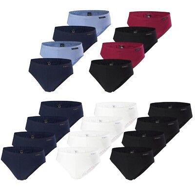 bugatti Herren Slips, 4 Stück, Sport Brief, Unterhose, weich langlebig elastisch - Herren Unterwäsche Sport Brief