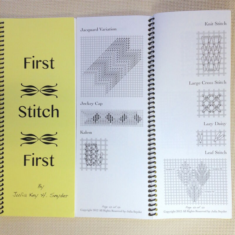 Needlepoint Stitch Reference Book Julia Snyder & More First Stitch First