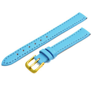 Genuine Ladies Leather Watch Strap Band Choice of Bright Colours FREE UK Post!