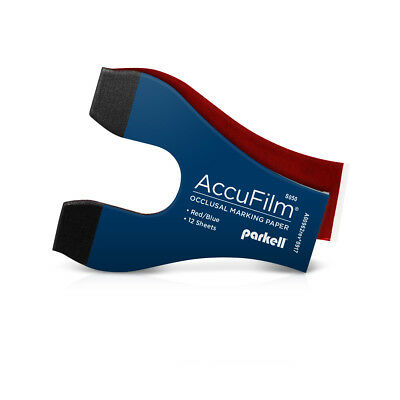 Parkell - Accufilm Full Arch Marking Paper Booklet- Redblue 72 Sheets6booklets