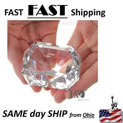 3pc 1x1 Square Acrylic Gem Box//Jar White insert storage display gemstone mineral