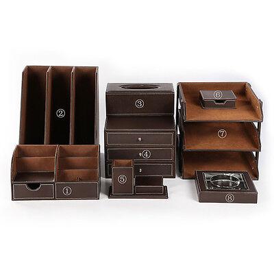Office Desk Accessories 8 Pcsset Files Holder Tray Desk Organizer Drawer Box