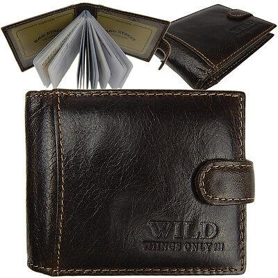 Leder Visitenkarten-Etui Kartenetui Herren Damen Kreditkarten  5350 Braun