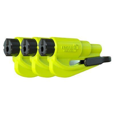 resqme® Car Escape Tool - Yellow, 3 pack, Seatbelt Cutter / Window Breaker