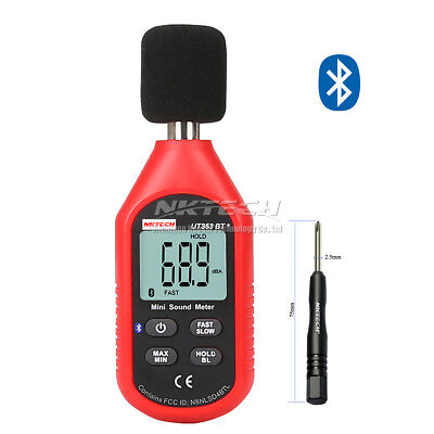 Nktech Ut353bt Bluetooth Digital Sound Level Meter 30-130db Noise Freq Test
