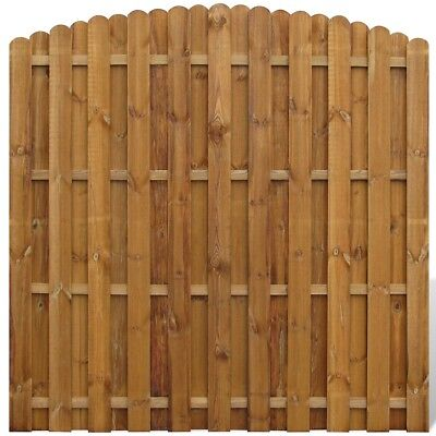 Wooden Hit/Miss Garden Fence Panels Boarder Lawn Palisade Edge Arched Design