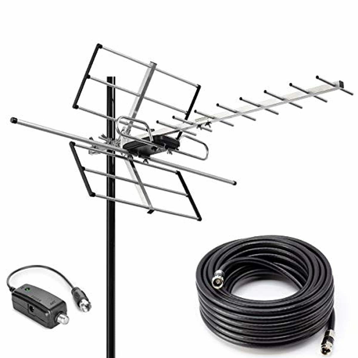pbd outdoor digital amplified yagi hdtv antenna