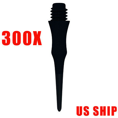300 pcs of Dart Soft Tips For Electronic Dartboard Plastic Points Darts Tip USA