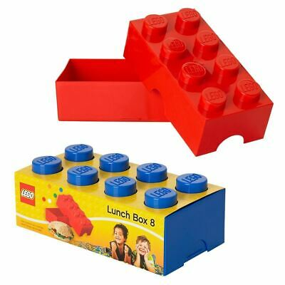 Lego Lunch Box Blue Red School Lunch Sandwich Kids Snacks