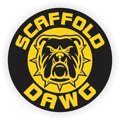 Scaffold Dawg Hard Hat Helmet Sticker | Safety Harness Builder Decal | Scaff Dog