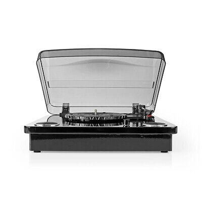 GIRADISCHI VINTAGE USB PREAMPLIFICATORE AUTOMATICO LETTORE 2 CASSE 18W CONVERTE