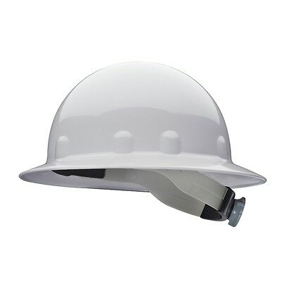 Fibre-metal Full Brim Hard Hat With 8 Point Ratchet Suspension White