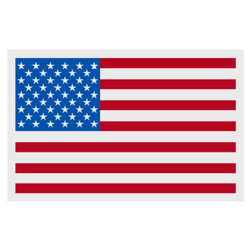 """American Flag Small Reflective Helmet Decal Sticker  (2"""" X 3"""" approximately)"""