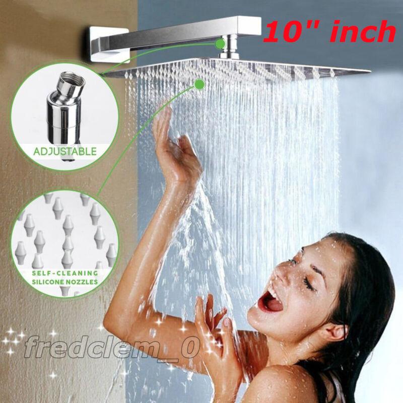 "10"" Square Rainfall & High Pressure Stainless Steel Bath Shower Head"