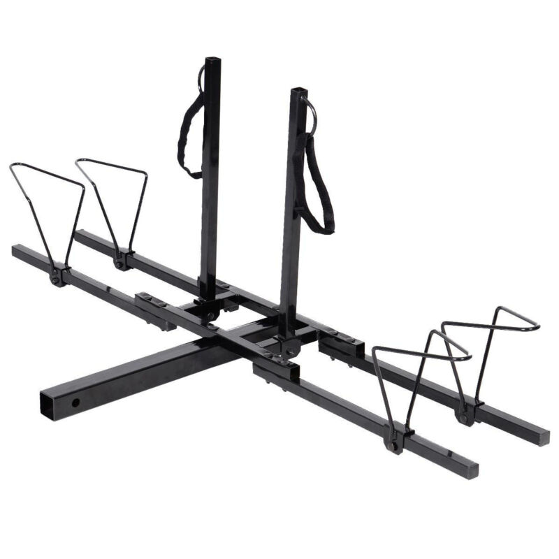 New 2 Bike Bicycle Carrier Hitch Receiver 2