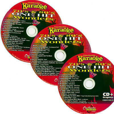 Karaoke  Chartbuster 3 Disc CD+G 5120 One Hit Wonder vol-1 70's 80's IN NEW CASE ()