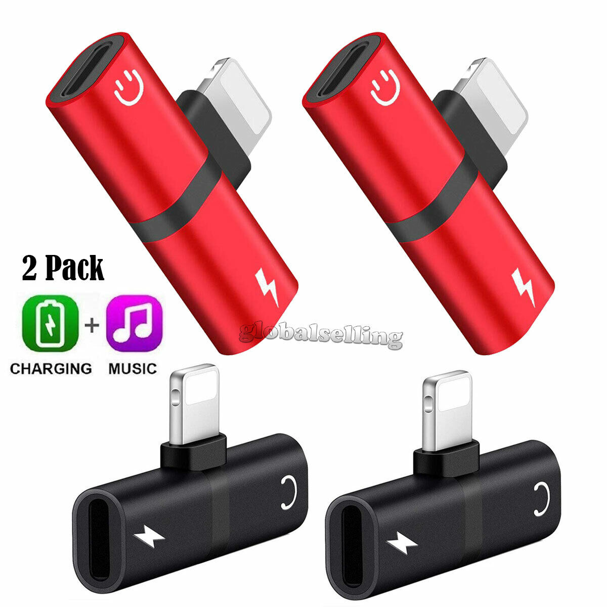 For iPhone X Xs MAX 8 7 Plus iOS 11 12 Aux Audio Charge Adap